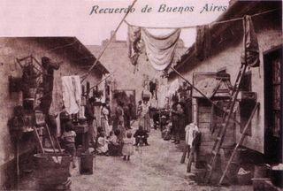 Conventillo de Buenos Aires, 1910
