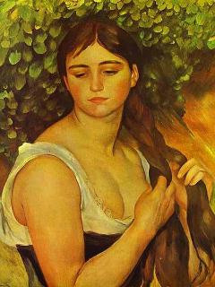 Pierre-Auguste_Renoir_-_Suzanne_Valadon_-_La_Natte_-_Girl_Braiding_Her_Hair